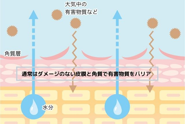 エミュール入浴剤ミネラルバスパウダーダメージ肌のイメージ